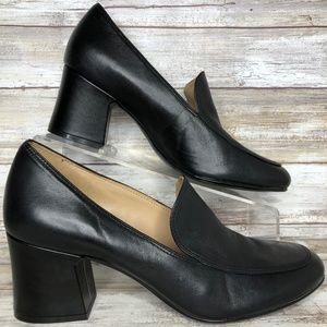Naturalizer 8.5M Black Leather Moc Toe Dress Pumps